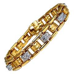 .80 Carat Natural Masculine Mod Durable Hinged Bracelet 14 Karat