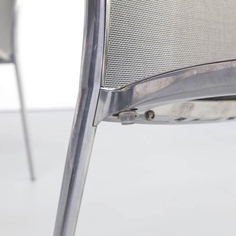 1980s Aluminium and Netwaeve Dining Chairs for Zanotta, Set of 6 6