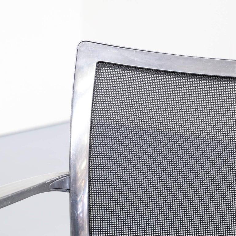 1980s Aluminium and Netwaeve Dining Chairs for Zanotta, Set of 6 7