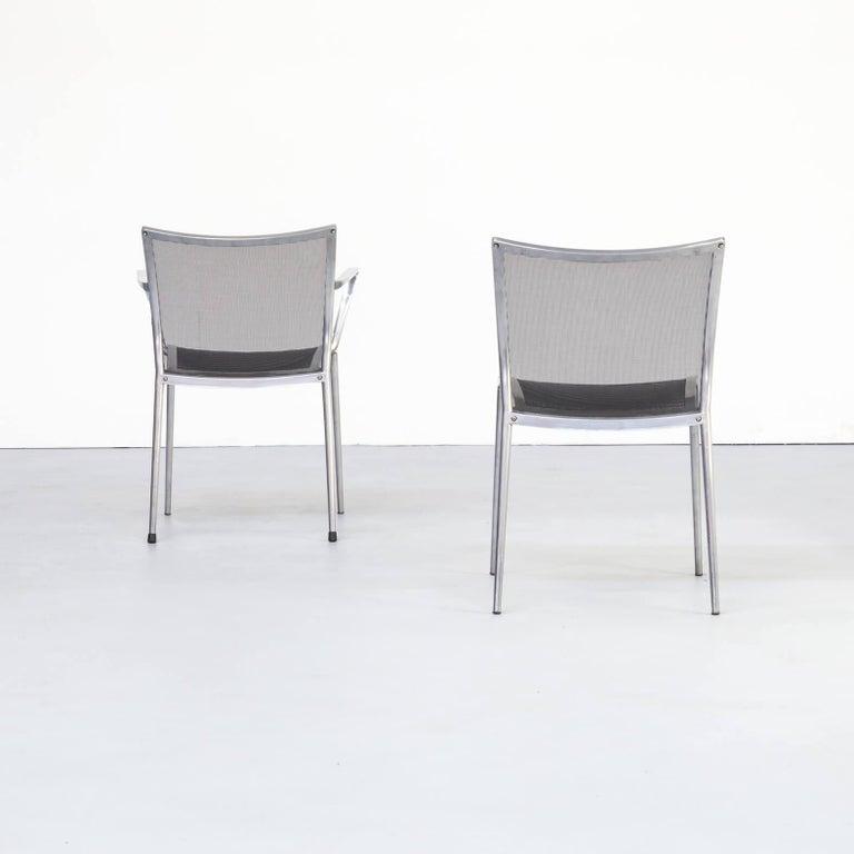1980s Aluminium and Netwaeve Dining Chairs for Zanotta, Set of 6 3