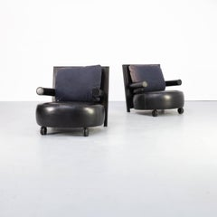 80s Antonio Citterio 'baisity' fauteuil for B&B italia set/2