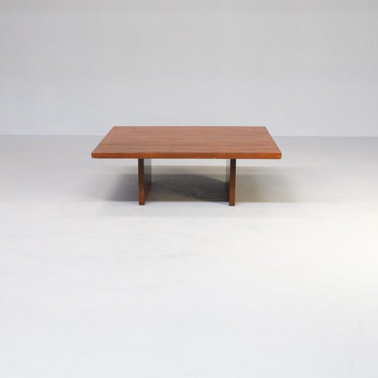 Mid-Century Modern 80s Bamboo Coffee Table Attr Axel Vervoordt Belgium For Sale