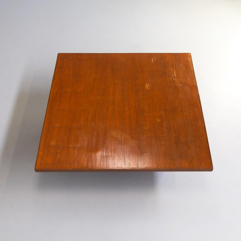 80s Bamboo Coffee Table Attr Axel Vervoordt Belgium For Sale 1