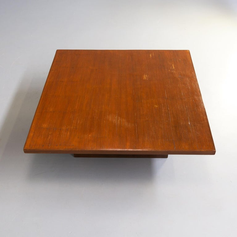 80s Bamboo Coffee Table Attr Axel Vervoordt Belgium For Sale 2