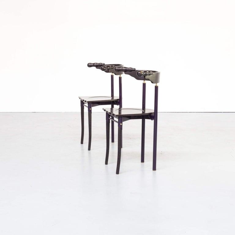 Mid-Century Modern 1980s Borek Sipek 'Jansky' Chairs for Driade, Set of 2