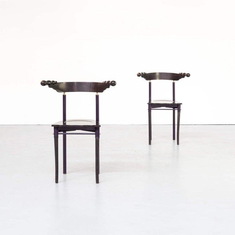 Italian 1980s Borek Sipek 'Jansky' Chairs for Driade, Set of 2