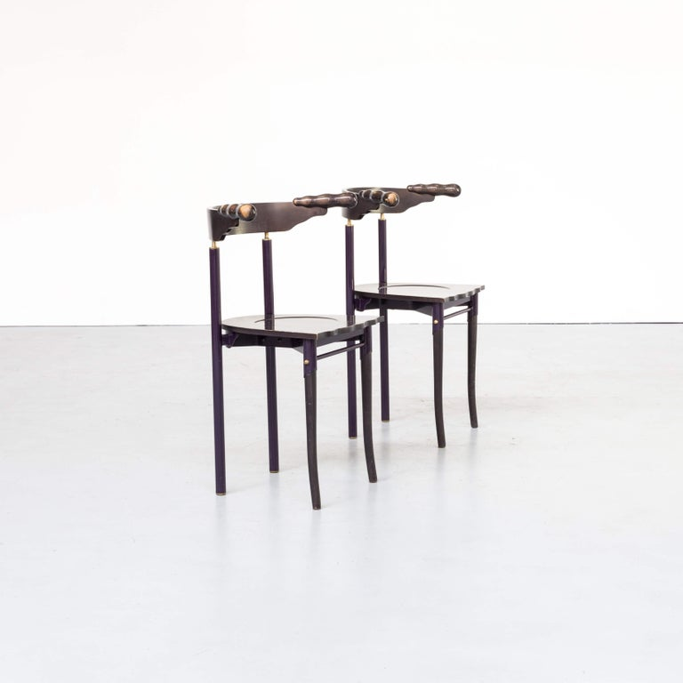 Lacquered 1980s Borek Sipek 'Jansky' Chairs for Driade, Set of 2