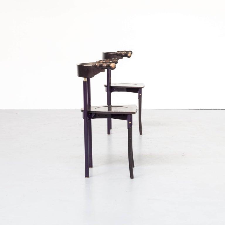 1980s Borek Sipek 'Jansky' Chairs for Driade, Set of 2 In Good Condition In Amstelveen, Noord