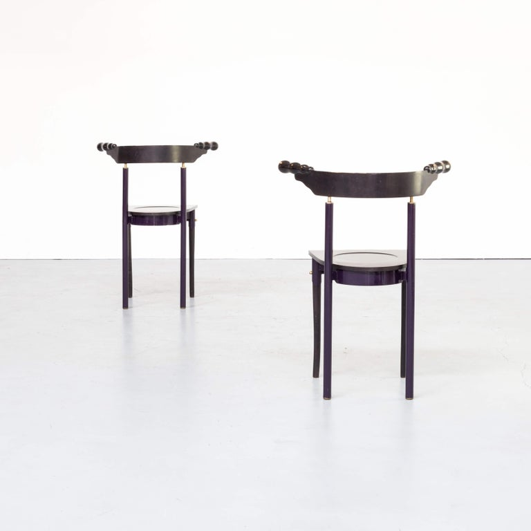 20th Century 1980s Borek Sipek 'Jansky' Chairs for Driade, Set of 2