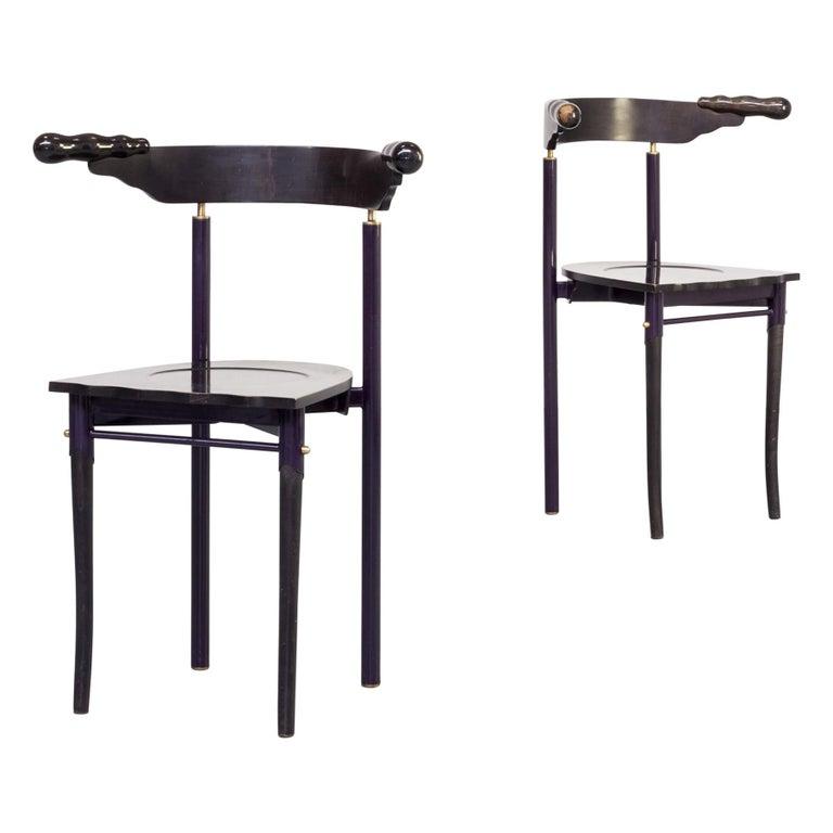 1980s Borek Sipek 'Jansky' Chairs for Driade, Set of 2