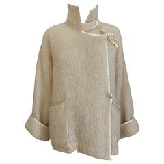 80s Jean Charles de Castelbajac creme wool Jacket