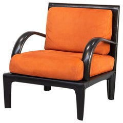 1980s Leather Lounge fauteuil for Roche Bobois