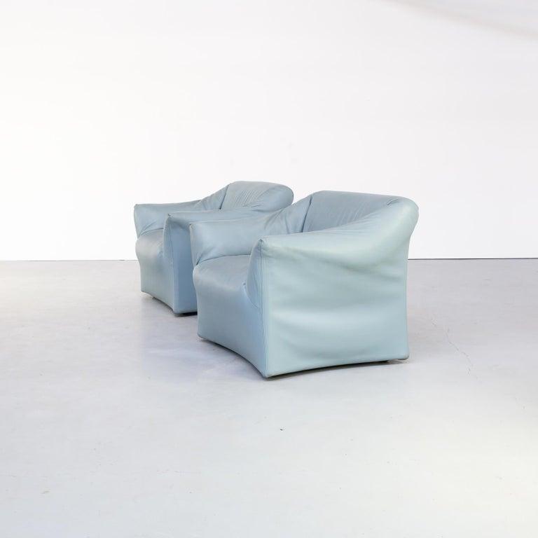 Mid-Century Modern 80s Mario Bellini Model 685 Sofa for Cassina Set/2 For Sale