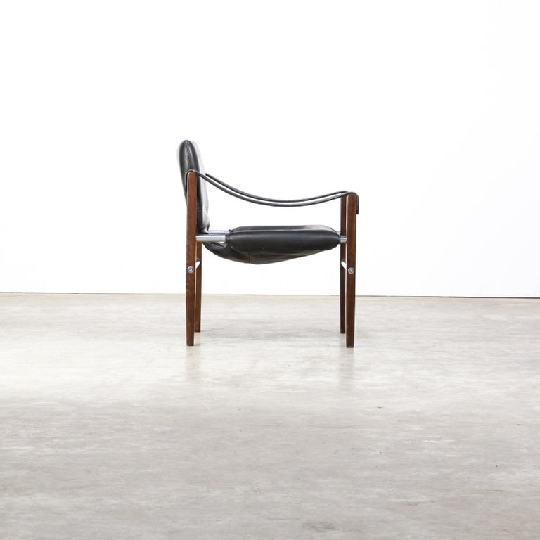 Late 20th Century 1980s Maurice Burke 'Safari' Lounge Chair for Arkana For Sale