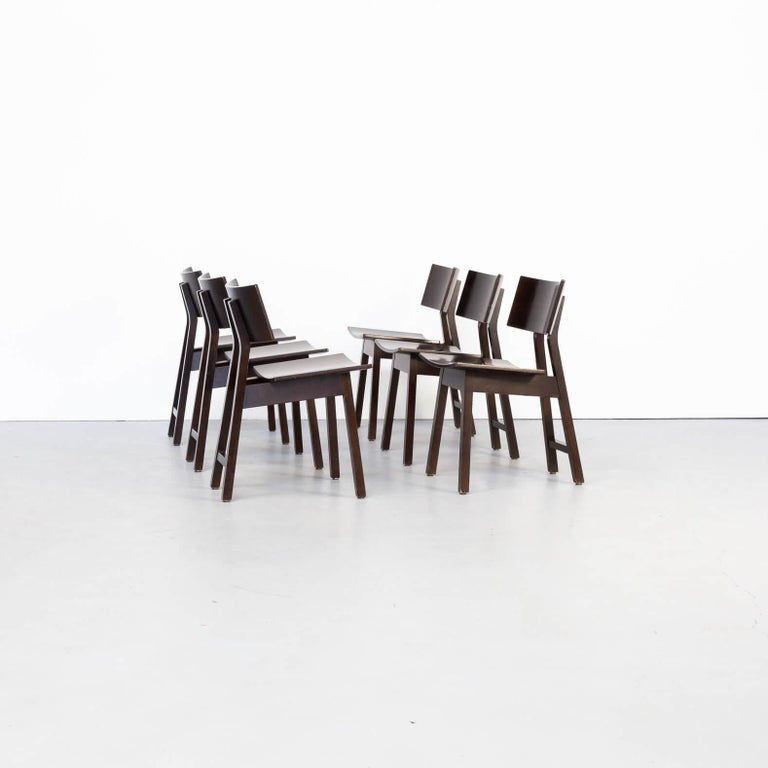 Mid-Century Modern 1980s Niall O'flynn 'barcelona' Dining Chair for Concepta Set/6 For Sale