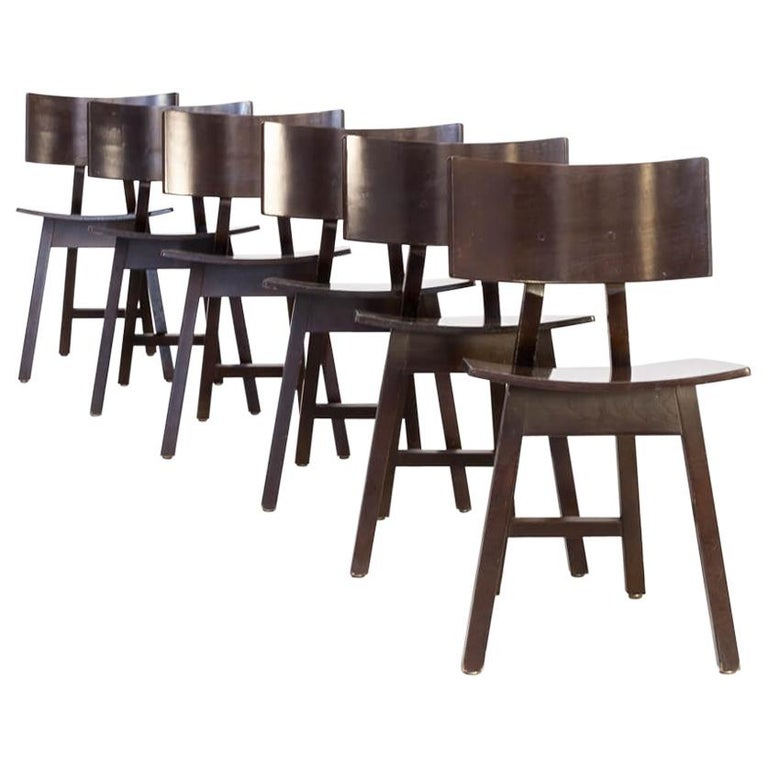 1980s Niall O'flynn 'barcelona' Dining Chair for Concepta Set/6 For Sale