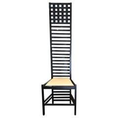 1980s Oak High Back Chair