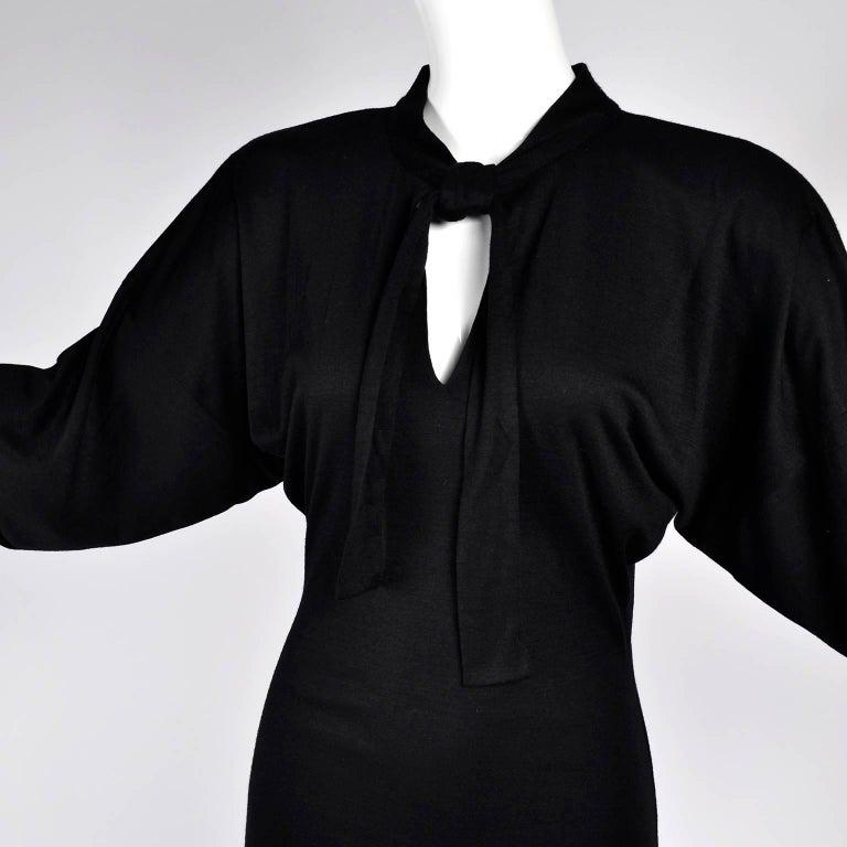 Women's 80s Patrick Kelly Dress Vintage Color Block Orange & Black Jersey w/ Flounce Hem For Sale