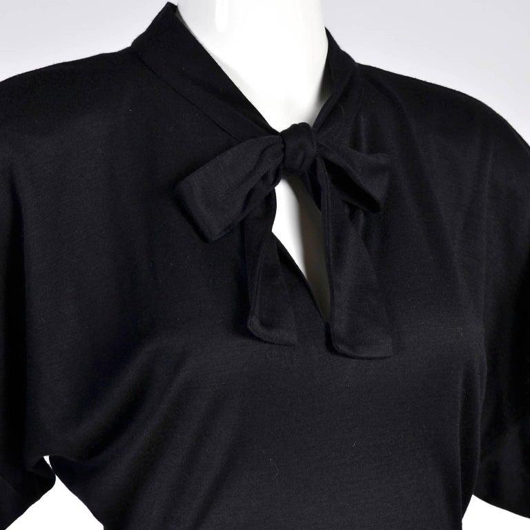 80s Patrick Kelly Dress Vintage Color Block Orange & Black Jersey w/ Flounce Hem For Sale 5