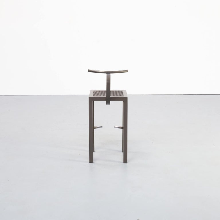 1980s Philippe Starck 'sarapis' Bar Stool for Driade In Good Condition In Amstelveen, Noord