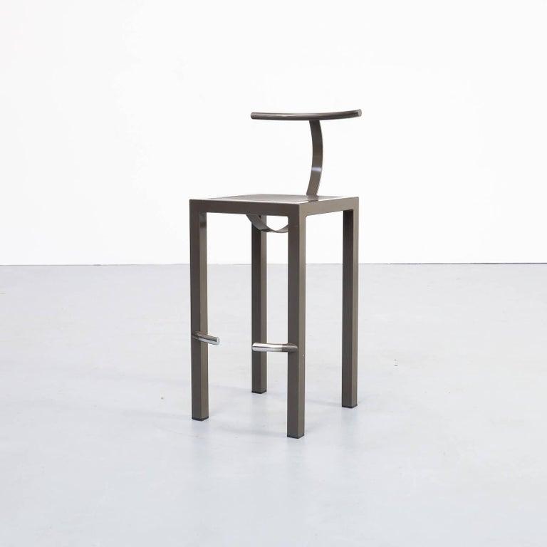 20th Century 1980s Philippe Starck 'sarapis' Bar Stool for Driade
