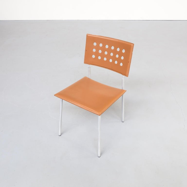 1980s Rare Dining Room Chair for LaPalma Set of 6 For Sale 3