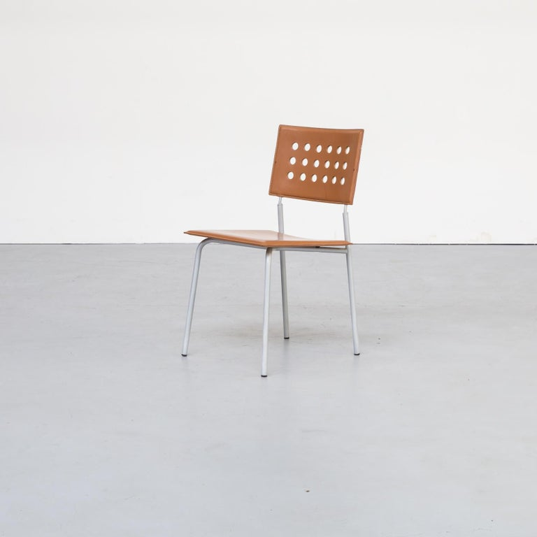Italian 1980s Rare Dining Room Chair for LaPalma Set of 6 For Sale