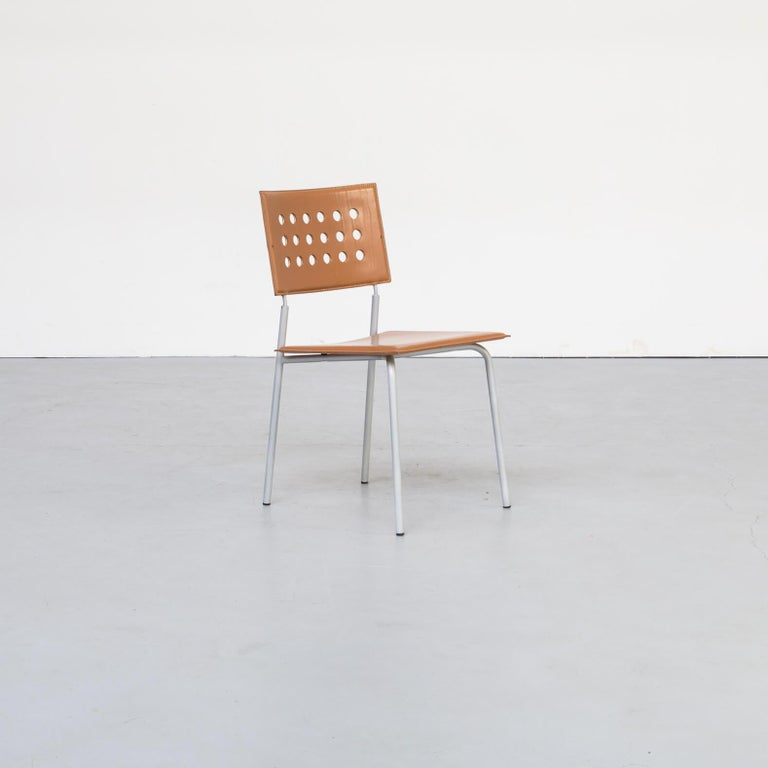 20th Century 1980s Rare Dining Room Chair for LaPalma Set of 6 For Sale