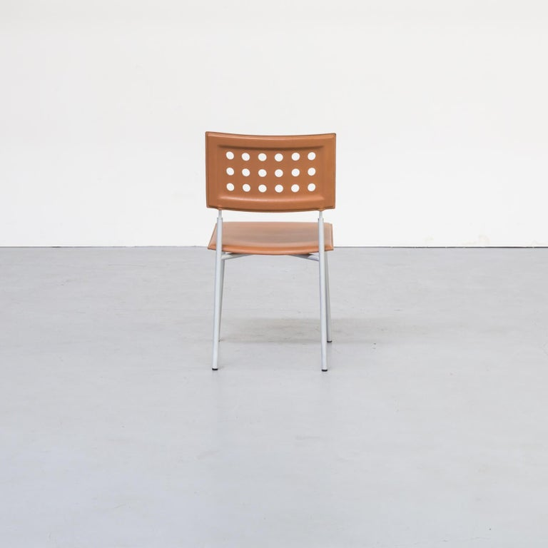 1980s Rare Dining Room Chair for LaPalma Set of 6 For Sale 1