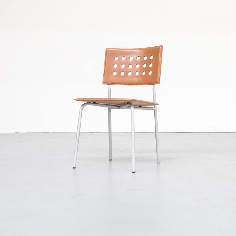1980s Rare Dining Room Chair for LaPalma Set of 6 For Sale 2