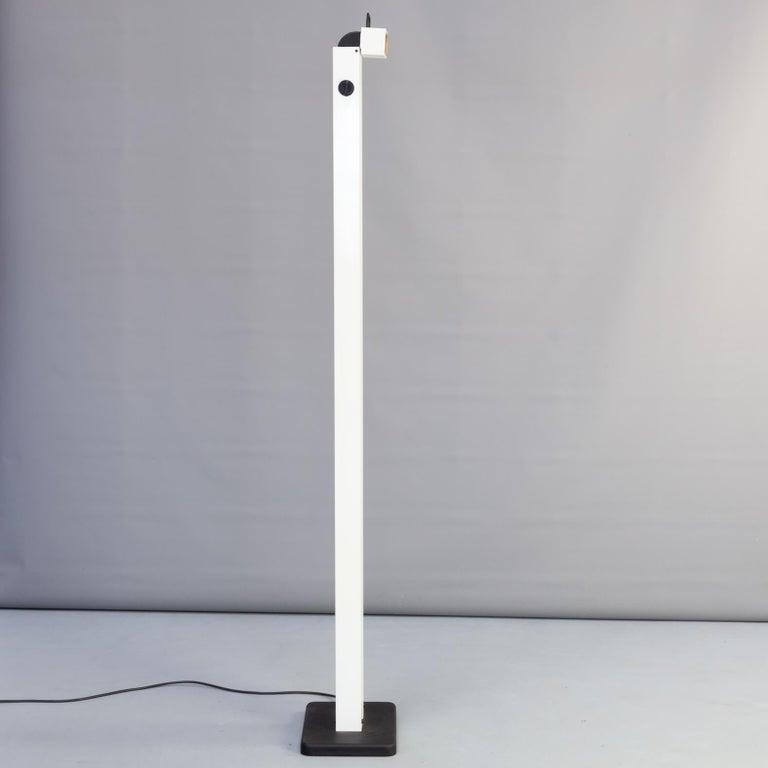 Metal 1980s Sergio Carpani 'Zagar' Dimmable Halogen Floor Lamp for Stilnovo For Sale