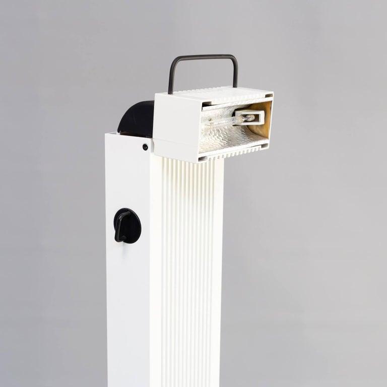 Mid-Century Modern 1980s Sergio Carpani 'Zagar' Dimmable Halogen Floor Lamp for Stilnovo For Sale