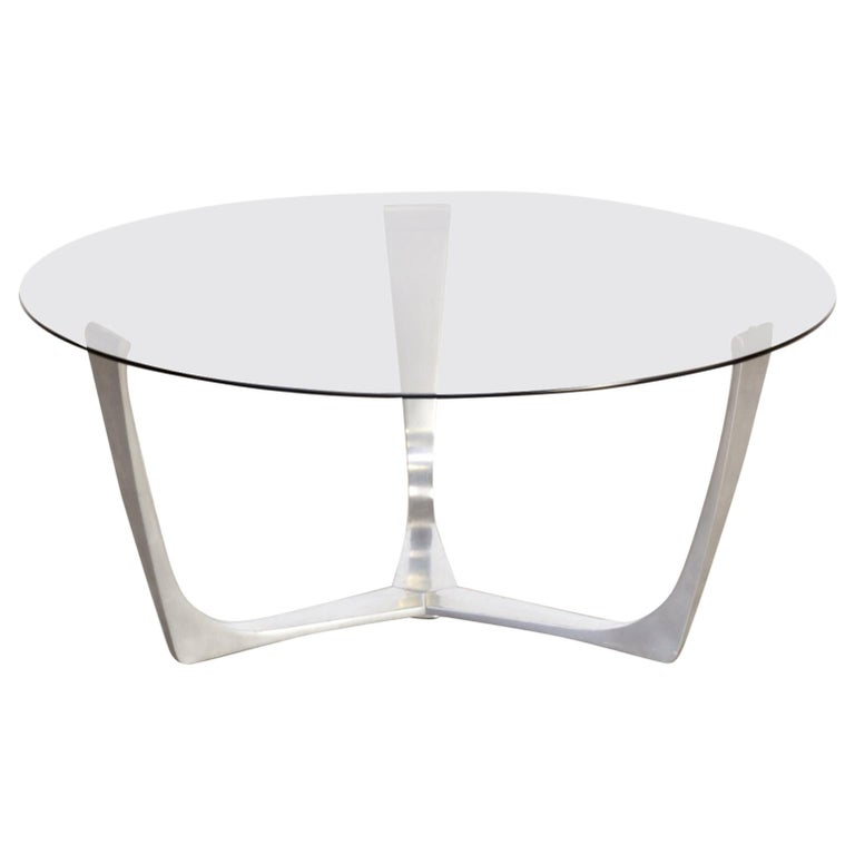 Wire Frame Coffee Table.1980s Solid Aluminum Frame Coffee Table Wire Glass Tabletop