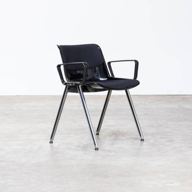 1980s Tecno SM203 Office Chair Set of Six at 1stdibs