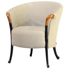 1980s Umberto Asnago 'Progetti 63340' fauteuil for Giorgetti