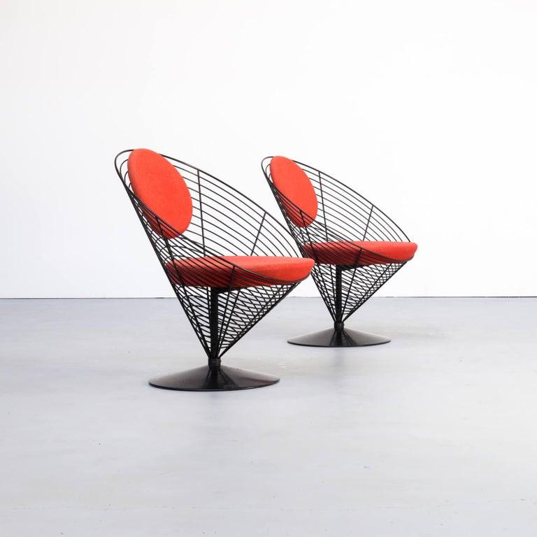 1980s Verner Panton Cone Chair for Fritz Hansen, Set of 2 In Good Condition For Sale In Amstelveen, Noord