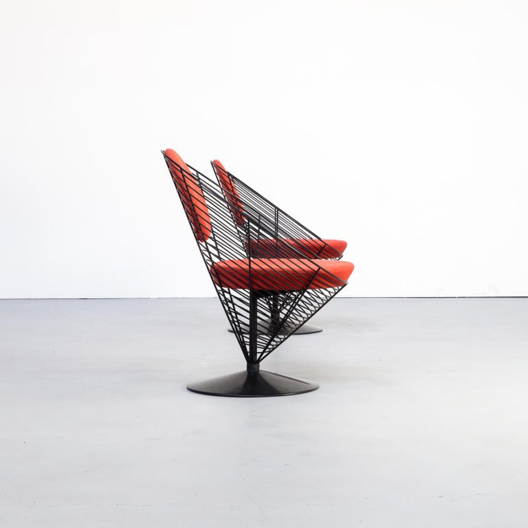 20th Century 1980s Verner Panton Cone Chair for Fritz Hansen, Set of 2 For Sale