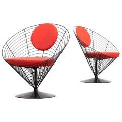 1980s Verner Panton Cone Chair for Fritz Hansen, Set of 2