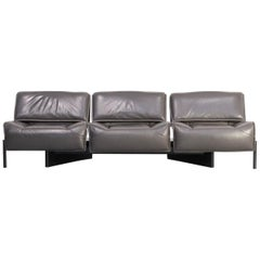 1980s Vico Magistretti 'Veranda 1-2-3-' Sofa for Cassina