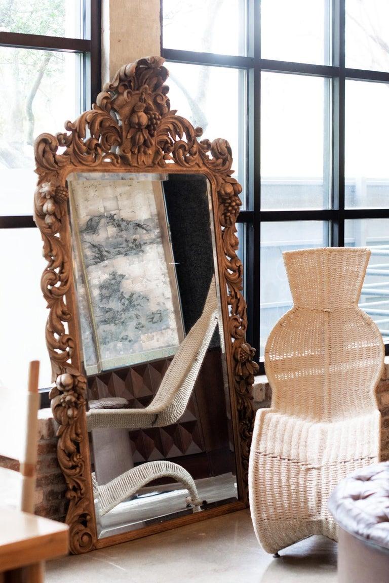 Hand-Carved Carved Oak Mirror, France, 1880 For Sale