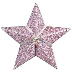 8.10 Carat Pink Sapphire Star Brooch