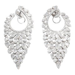 8.14 Carat Diamonds Earrings '744 Diamonds' 18 Karat Gold