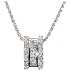 .82 Carat Diamond White Gold Slide Pendant Necklace