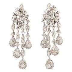 8.20 Carat Diamonds Earrings