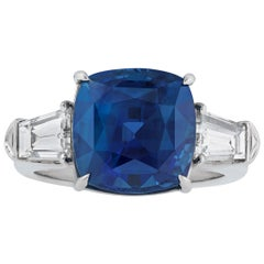 8.20 Carat Natural Sapphire and Diamond Ring