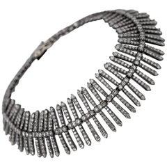 8.23 Carat Diamond Link Bracelet in Art-Deco Style