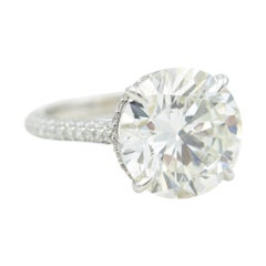 8.27 Carat GIA Certified I SI2 Round Brilliant Cut Diamond in Platinum Mounting