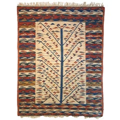 828 - Beautiful Vintage Kilim Floral Design Transylvania