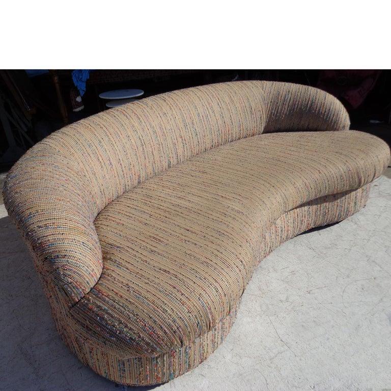 Mid-Century Modern Modern Curved Kidney Shaped Sofa