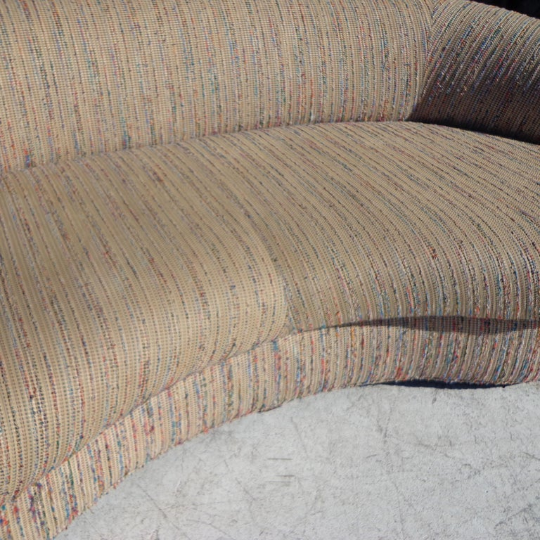 Late 20th Century Modern Curved Kidney Shaped Sofa